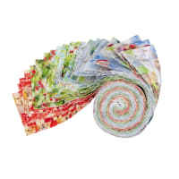 Fabric Editions Holiday Santas Helpers Strip 20 Pcs