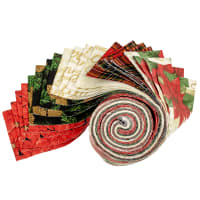 Fabric Editions Holiday Merry & Bright Strip 20 Pcs