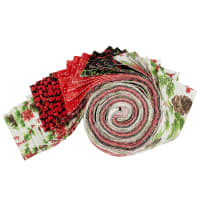 Fabric Editions Holiday Christmas Floral Strip 20 Pcs