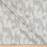 Fabric Editions Holiday Sparkle Glitter Feather Silver