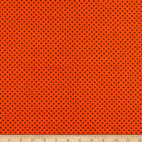 Fabric Editions Holiday Halloween Party Dots Orange