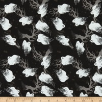 Fabric Editions Holiday Spooky Night Ghost Black