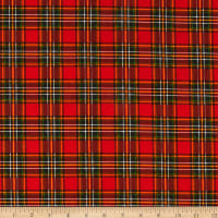 Fabric Editions Holiday Merry & Bright Plaid Red