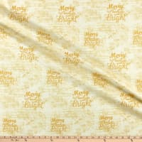 Fabric Editions Holiday Merry & Bright Music Paper Cream
