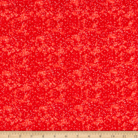 Fabric Editions Holiday Christmas Floral Dots Red