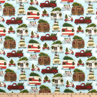 Fabric Editions Holiday Christmas Campers Christmas On The Go