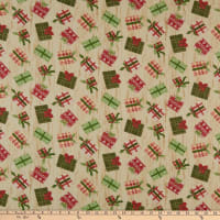 Fabric Editions Holiday Christmas Campers Presents