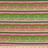 Fabric Editions Holiday Winter Woodland Woodland Stripe Multi