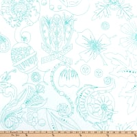 Andover Sun Print Light Carved Turquoise
