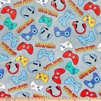 Whisper Fleece Video Games Grey