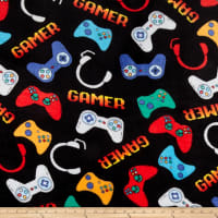 Whisper Fleece Video Games Black