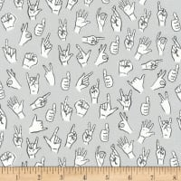 Kaufman Hello Lucky Sign Language Grey
