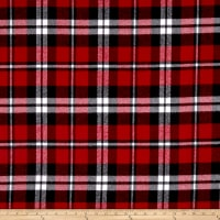 Kaufman Mammoth Flannel Red Plaid