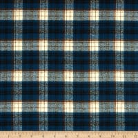 Kaufman Mammoth Flannel Blue Plaid