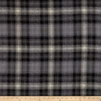 Kaufman Mammoth Flannel Gray Black Brown Check