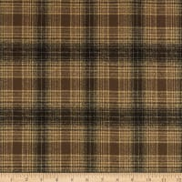 Kaufman Mammoth Flannel Chocolate Plaid
