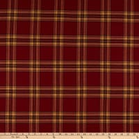 Kaufman Mammoth Flannel Red Tan Plaid