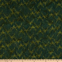 Island Batik Candy Cane Lane Antlers Spinach