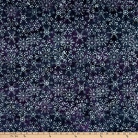 Island Batik Snow Berry Large Snowflake Blackberry