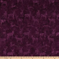 Island Batik Snow Berry Deer Grouping Amethyst