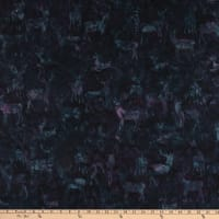 Island Batik Snow Berry Deer Grouping Blackberry