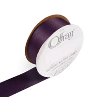 "1  1/2"" Offray Duchesse Satin (Roll 25 yards) Eggplant"