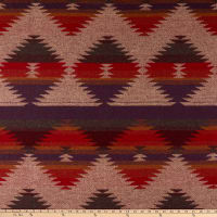 Telio Woodlands Coating Aztec Inspired Plum Red