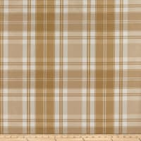 KasLen Plaid 100% Silk Tan/White