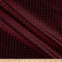 KasLen Windowpane 100% Silk Burgundy