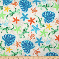 Trans-Pacific Textiles Hawaiian Gecko Tropical Forest Beige