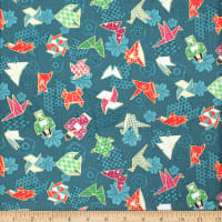 Trans-Pacific Textiles Asian Mini Origami w/Metallic Green