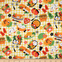 Trans-Pacific Textiles Asian Bento Picnic Yellow