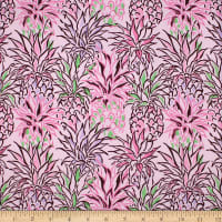 Trans-Pacific Textiles Hawaiian Colorful Pineapple Pink