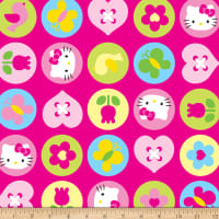 Springs Creative Sanrio Hello Kitty OI Polka Dot Badge Minky Pink