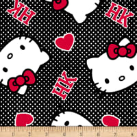 Springs Creative Sanrio Hello Kitty Ideas Of Love Hearts Minky Pink