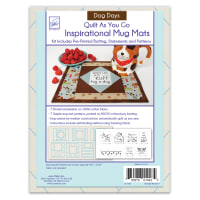 June Tailor Quilt As You Go Inspirational Mug Mats Dog Days