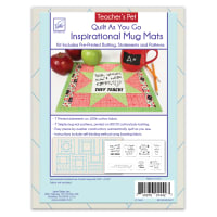 June Tailor Quilt As You Go Inspirational Mug Mats Teacher' Pet