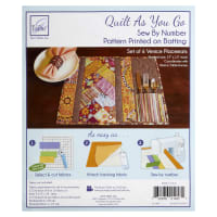 June Tailor Quilt As You Go Placemat Pattern Venice 6 Pcs