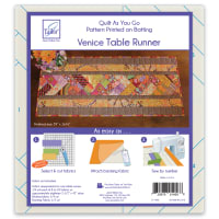 June Tailor Quilt As You Go Table Runner Quilt Pattern Venice
