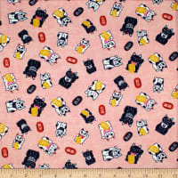 Trans-Pacific Textiles Good Fortune Lucky Cat Coral