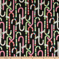 Alexander Henry Candy Canes Black