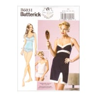 Butterick B6031 Patterns by Gertie Camisole, Slip and Panties A5 (Sizes 6-14)