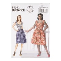 Butterick B6322 Patterns by Gertie Misses' Ruched Corset-Style Dress E5 (Sizes 14-22)