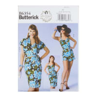 Butterick B6354 Patterns by Gertie Petite Bolero, Bustier, Sarong & Shorts A5 (SZ 6-14)