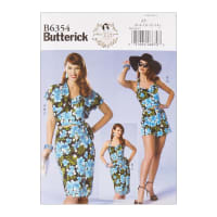 Butterick B6354 Patterns by Gertie Petite Bolero, Bustier, Sarong & Shorts E5 (SZ 14-22)