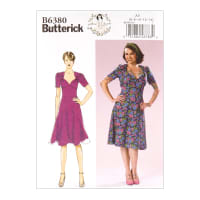 Butterick B6380 Patterns by Gertie Sweetheart Dress w/ Gathered Bodice A5 (SZ 6-14)