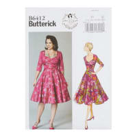 Butterick B6412 Patterns by Gertie Sweetheart-Neckline, Full-Skirted Dress E5 (Size 14-22)