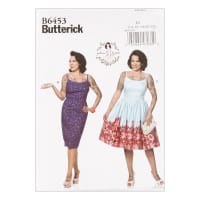 Butterick B6453 Patterns by Gertie Princess Dresses, Straight/Gathered Skirt A5 (SZ 6-14)