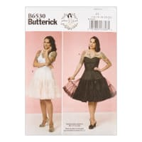 Butterick B6530 Patterns by Gertie Misses' Full Slip and Petticoat A5 (Sizes 6-14)