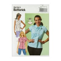 Butterick B6563 Patterns by Gertie Misses' Top A5 (Sizes 6-14)